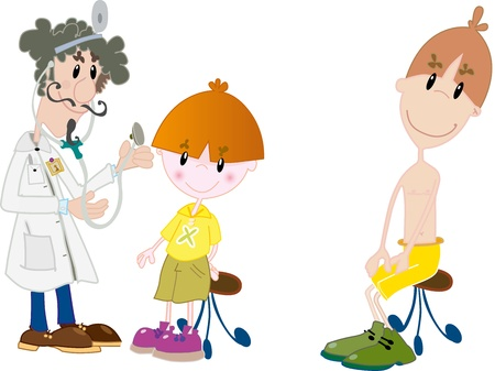 Kids at the doctor Stock Vector - 18454654