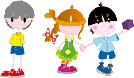 Kids playing Stock Vector - 18454646