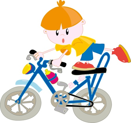 Kid on the bicycle Vector