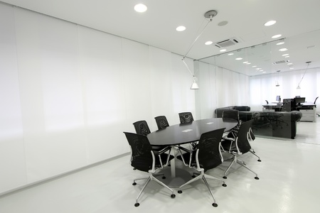 glass partition: Office