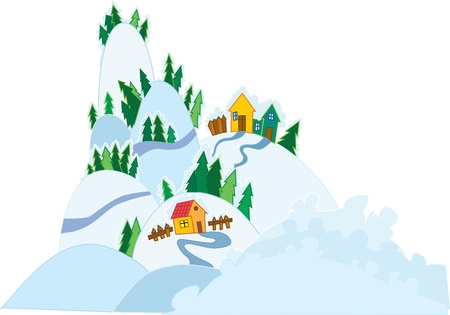Winter scenery Stock Vector - 18474025