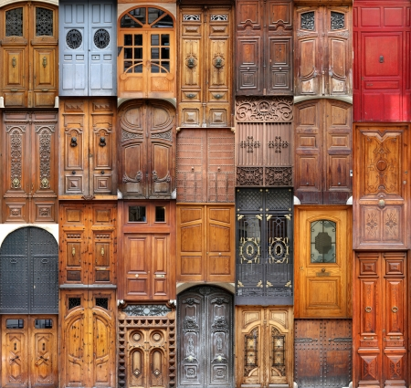 many windows: Doors from Valencia, Spain Stock Photo