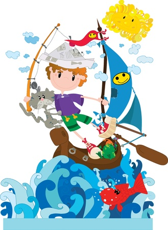 Little sailor Stock Vector - 18829602