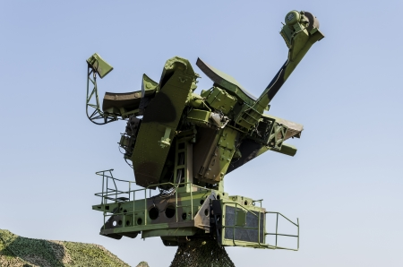Belgrade, Serbia - September 2, 2012 - Closeup detail of the military anti- aircraft radar