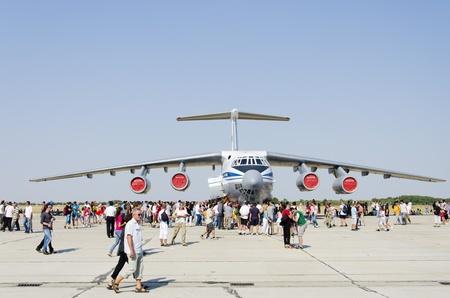 Belgrade, Serbia - September 2, 2012 - Aircraft Ilyushin Il-76MD on the Airshow Batajnica 2012 in Belgrade, Serbia on September 2, 2012.