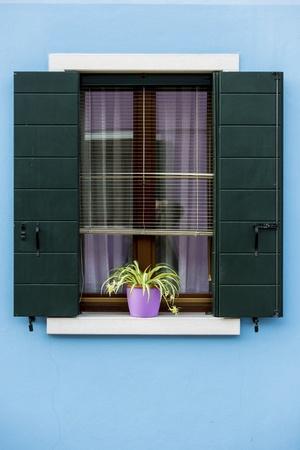Window from Burano island, Italy photo