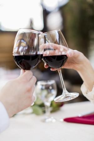 romantic evening with wine: Romance Stock Photo
