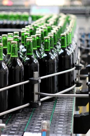 conveyor: Bottling plant Stock Photo
