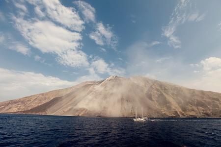 stromboli: Stromboli volcano in Italy