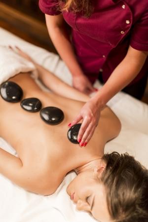 Hot Stone massage therapy Zdjęcie Seryjne