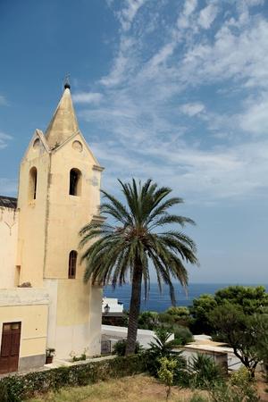 panarea: Church in Panarea, Italy Stock Photo