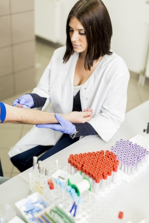 Blood sampling photo