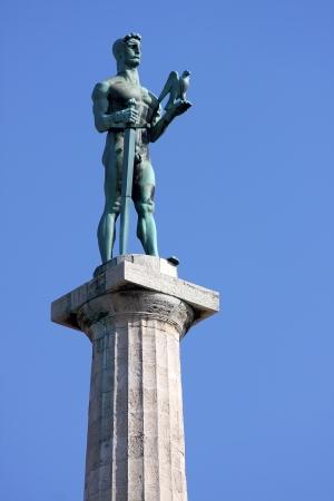 belgrade: Victor monument in Belgrade, Serbia Stock Photo