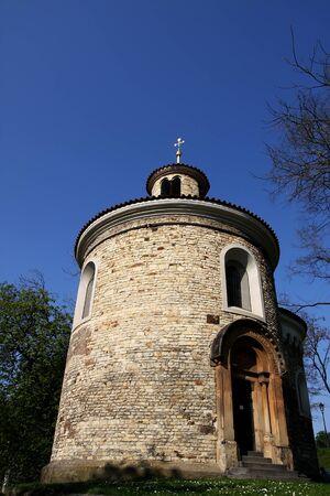 rotunda: Rotunda of St  Martin, Prague Stock Photo