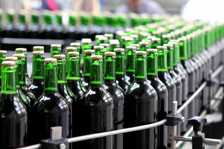 Manufacturing plant: Bottling plant Stock Photo