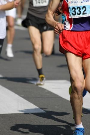 belgrade: Belgrade, Serbia - April 17, 2011  Runners of the 24  Belgrade Marathon in Belgrade, Serbia at April 17, 2011