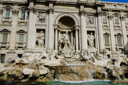 Trevi-Brunnen in Rom, Italien photo
