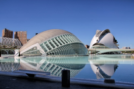 Valencia, Spain - September 30, 2012  The City of Arts and Sciences in Valencia, Spain  It is designed by Santiago Calatrava and F�lix Candela and finished at 1998