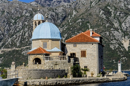 Our Lady of the Rocks church in Kotor Bay photo