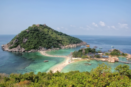 Nangyuan Island beach in Thailand photo