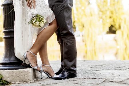pants: Wedding couple Stock Photo