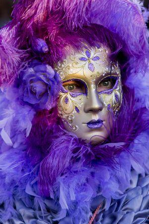 Traditional venetian carnival mask photo