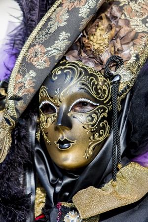 Traditional venetian carnival mask photo