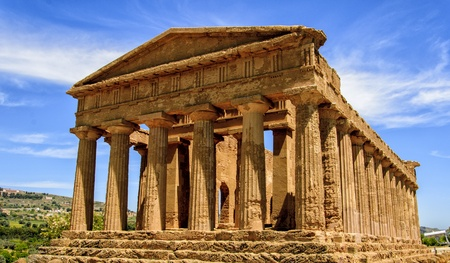 agrigento: Temple of Concordia in Agrigento, Italy Stock Photo