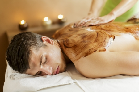 facial muscles: Chocolate massage