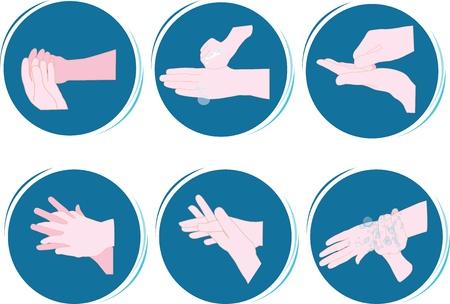 Mani di lavaggio Archivio Fotografico - 21911428