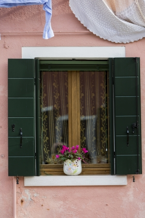 Window from Burano island, Italy photo