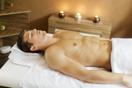 Man in the spa photo