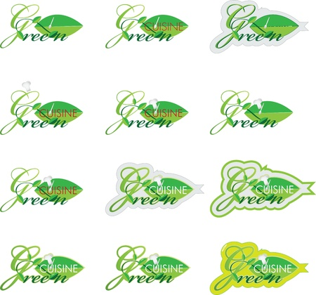 Green cuisine Vector