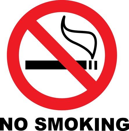 nicotine: No smoking sign