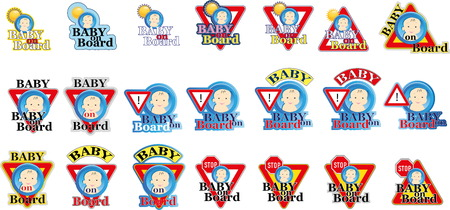 Baby on board sign Stock Vector - 22200013