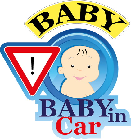Baby on board sign Stock Vector - 22200014