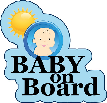 Baby on board sign Stock Vector - 22200016