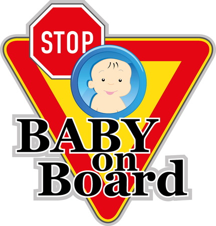 Baby on board sign Stock Vector - 22200019