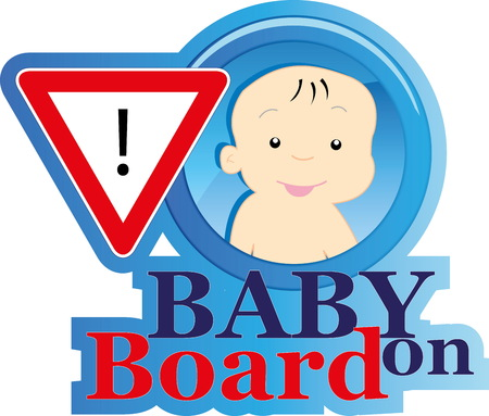 Baby on board sign Stock Vector - 22200023