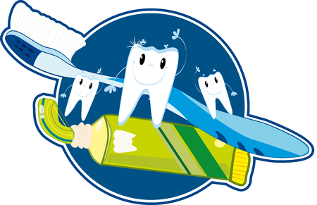 Teeth brushing Stock Vector - 22599332