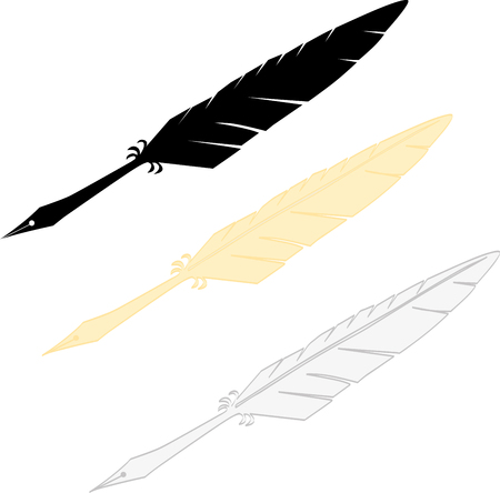 writting: Writting feather Illustration