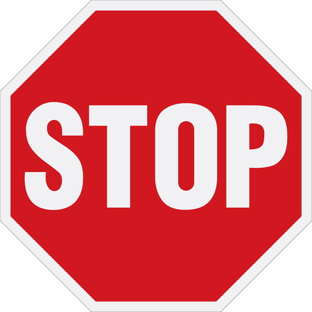attention sign: Stop sign Illustration