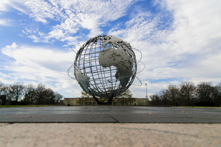 New York, USA - November 28, 2011  Unisphere in New York  It was deigned by Gilmore D  Clarke and constructed as the theme symbol of the 1964-1965 New York World