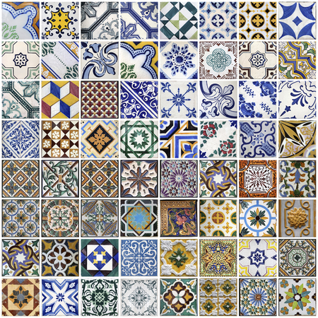 porto: Traditional tiles from Porto, Portugal Stock Photo