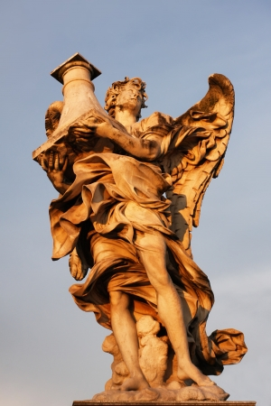 Statue from Ponte San t Angelo in Rome, Italy photo