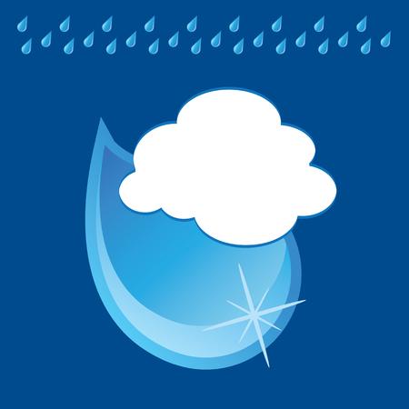 The rain Vector