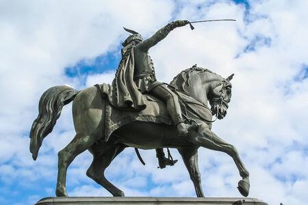 Ban Jelacic statue in Zagreb, Croatia Stock Photo