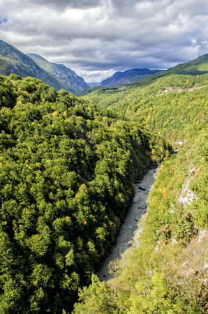 tara: Tara river canyon in Montenegro Stock Photo