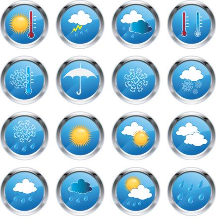 Weather icons Ilustracja