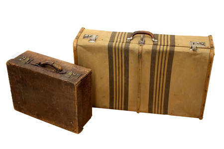 Vintage travel suitcases photo